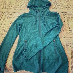 Gap extra small turquoise workout jacket stretchy